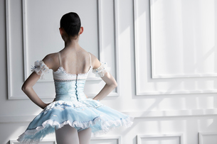 ドレスを着て佇むバレリーナの写真素材 [FYI03151041]