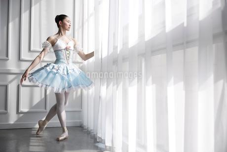ドレスを着て佇むバレリーナの写真素材 [FYI03151048]