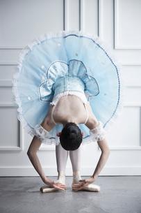 ドレスを着て前屈をするバレリーナの写真素材 [FYI03151052]