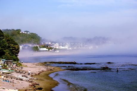 朝靄の三浦海岸の写真素材 [FYI03151893]