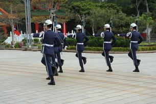 台湾 忠烈祠 衛兵交代式の写真素材 [FYI03152222]
