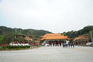 台湾 忠烈祠 衛兵交代式の写真素材 [FYI03152223]