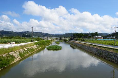 沖縄の田舎の川と橋の写真素材 [FYI03152766]