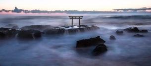 大洗磯前神社の神磯の鳥居 日本 茨城県 大洗町の写真素材 [FYI03153118]