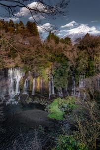白糸の滝 日本 山梨県 南部町の写真素材 [FYI03153356]