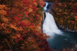 法体の滝 日本 秋田県 由利本荘市の写真素材 [FYI03153439]