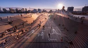 大桟橋 日本 神奈川県 横浜市の写真素材 [FYI03153852]