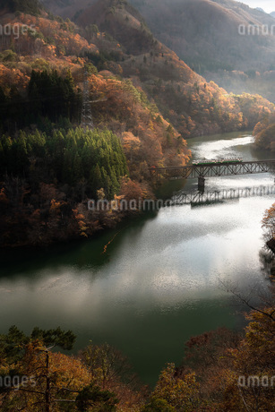 只見川第三橋梁 日本 福島県 三島町の写真素材 [FYI03153862]