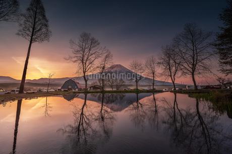 富士山 ふもとっぱらキャンプ場 日本 静岡県 富士宮市の写真素材 [FYI03153887]