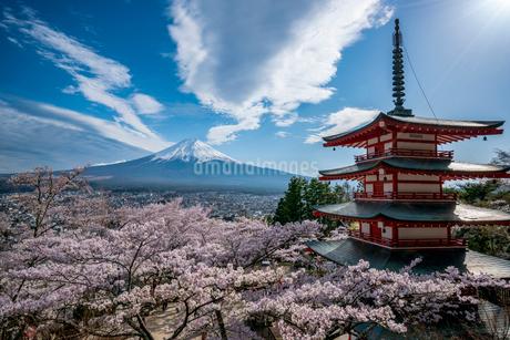 新倉山浅間公園 日本 山梨県 富士吉田市の写真素材 [FYI03153915]