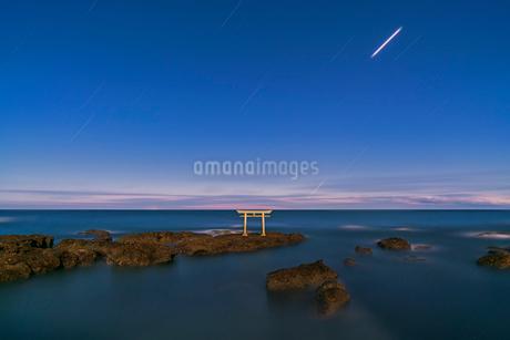 海岸 鳥居 風景の写真素材 [FYI03153939]