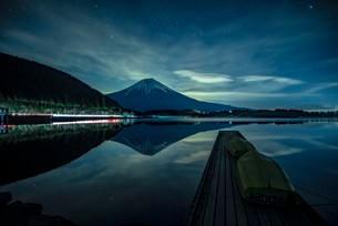 田貫湖 日本 静岡県 富士宮市の写真素材 [FYI03153982]