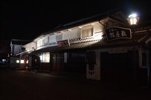 夜の倉敷の町並みの写真素材 [FYI03154131]
