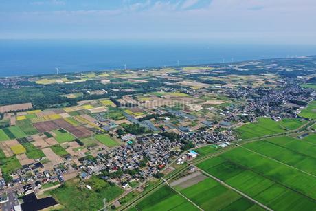 新潟県胎内市の空撮の写真素材 [FYI03154318]