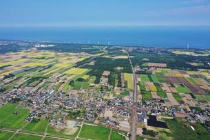 新潟県胎内市の空撮の写真素材 [FYI03154320]