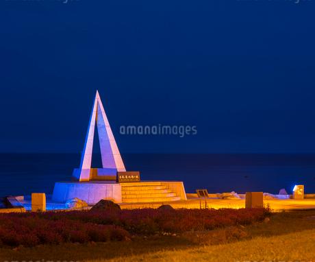 北海道 自然 風景 宗谷岬 (夜景)の写真素材 [FYI03154809]