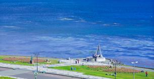 北海道 自然 風景 パノラマ 宗谷岬の写真素材 [FYI03154814]
