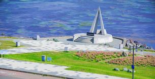 北海道 自然 風景 パノラマ 宗谷岬の写真素材 [FYI03154816]