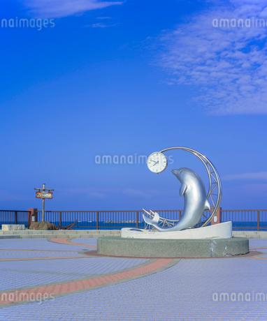 北海道 自然 風景 野寒布岬 (ノシャップ岬)より利尻島遠望の写真素材 [FYI03154828]