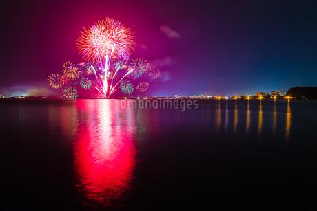 米子がいな祭りの花火 日本 島根県 安来市の写真素材 [FYI03155392]