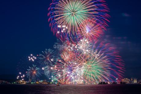 花火 日本 島根県 松江市の写真素材 [FYI03155421]