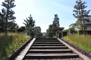 京都伏見・光明天皇陵の参道入口の写真素材 [FYI03155480]