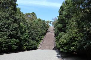 京都・伏見桃山陵の長い参道の写真素材 [FYI03155510]