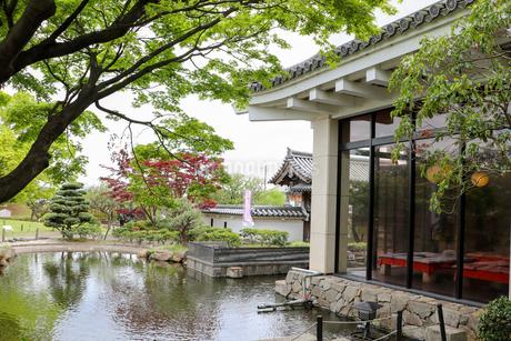 お城の日本庭園の写真素材 [FYI03155592]
