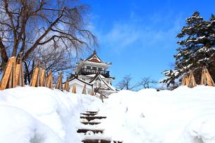 冬の横手城の写真素材 [FYI03155621]