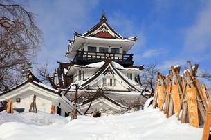 冬の横手城の写真素材 [FYI03155623]