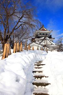 冬の横手城の写真素材 [FYI03155624]