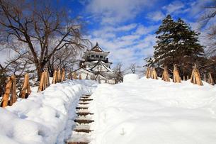 冬の横手城の写真素材 [FYI03155629]