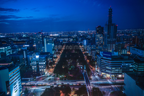 名古屋テレビ塔からの夕景の写真素材 [FYI03155819]