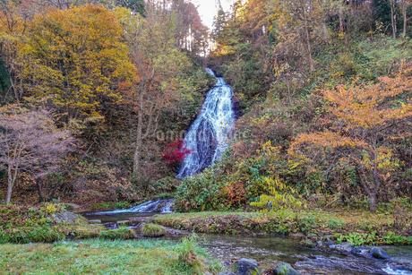 紅葉の七滝の写真素材 [FYI03155992]