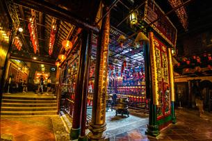 香港・文武廟の写真素材 [FYI03156004]
