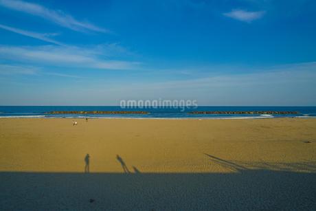 荒浜海岸の砂浜(宮城県仙台市)の写真素材 [FYI03156049]