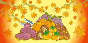 秋の味覚のイラスト素材 [FYI03156358]