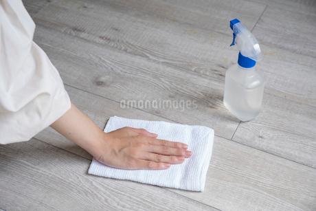 掃除をする女性の手元の写真素材 [FYI03156568]