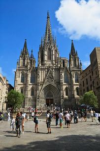 バルセロナ大聖堂の写真素材 [FYI03156710]