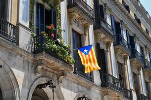 カタルーニャ国旗の写真素材 [FYI03156745]