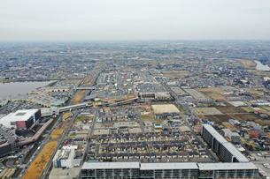 越谷レイクタウンの空撮の写真素材 [FYI03156872]