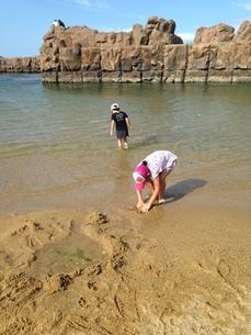 浜辺の姉妹の写真素材 [FYI03157075]