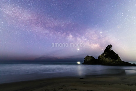 天の川 茨城 風景の写真素材 [FYI03157952]