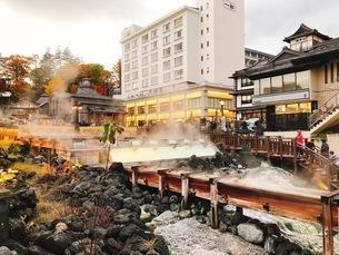 草津温泉の写真素材 [FYI03158996]