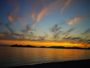 夕日の写真素材 [FYI03159838]