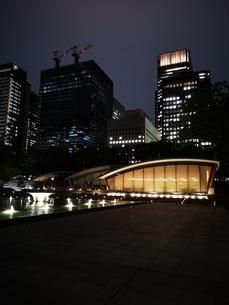 夜の和田倉公園の写真素材 [FYI03160671]