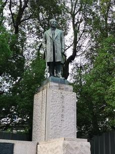 常盤橋公園の渋沢栄一の銅像の写真素材 [FYI03160780]