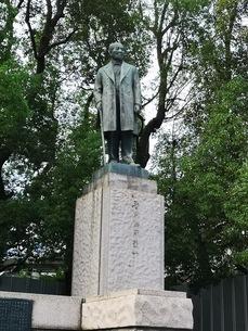 常盤橋公園の渋沢栄一の銅像の写真素材 [FYI03160781]
