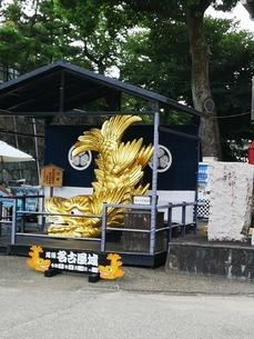 金の鯱がある名古屋城の写真素材 [FYI03160787]