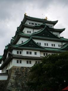 金の鯱がある名古屋城の写真素材 [FYI03160789]